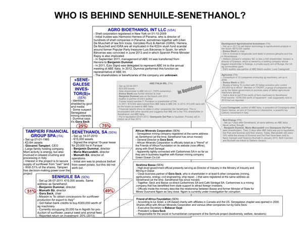 Figure 1: Click to download organogramme of Senhuile-Senethanol's ownership structure (pdf)