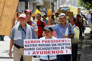 Colombian farmers' organisations strike