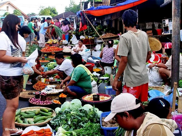 Fresh market in Manado City, Sulawesi, Indonesia (Photo: Trigana Udara)