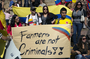 Solidarity march in Melbourne, Australia: even Colombians far from home were shocked to learn how the US and EU trade deals have pushed Bogotá to criminalise farmers' seeds. (Source: Erik Anderson/Flickr)